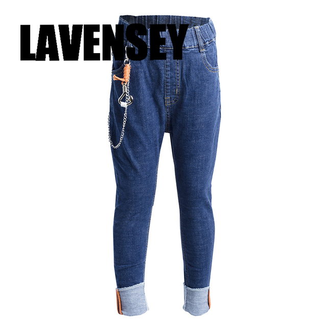 42a2a54678c Lavensey Boys Jeans Casual Jeans For Boys Trousers Fancy Chain Boys Jean  100% Cotton Jean For Boy Clothes Party And School