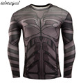 Brand New Men Jersey Fitness tee Compression Shirt Tights Winter Soldier Bucky 3D Punisher Long Sleeve T Shirt