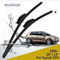 Car Wiper Blades For Suzuki SX4 26 14 Rubber Front Windscreen Car Accessory Freeshipping