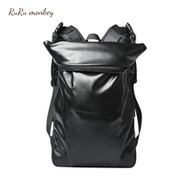 RURU monkey Men Backpacks Student High capacity Traveling Bag Men Black Outdoors With Hat Backpacks Man Casual Mochilas Backpack