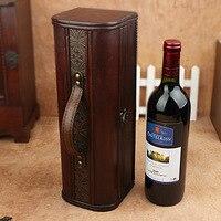 الاكسسوارات هدية تحميل الخشب العتيقة النبيذ مربع خشبي النبيذ شريط فيلم تغليف علب البيرة الرئيسية تخزين مربع تنظيم