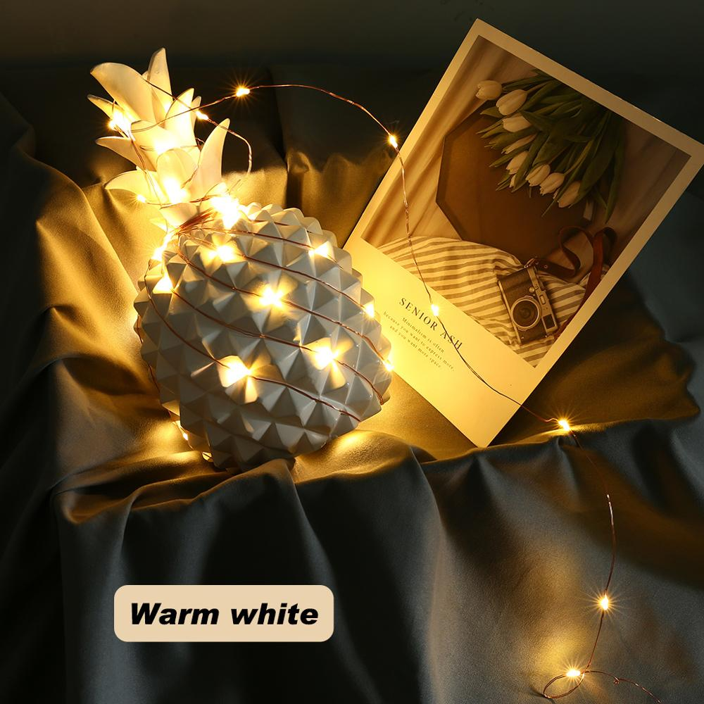 Led Strings Light 5/10/20m Copper Wire Eight Modes Warm White Garland Home Christmas Wedding Party Decoration 5V USB Fairy Light