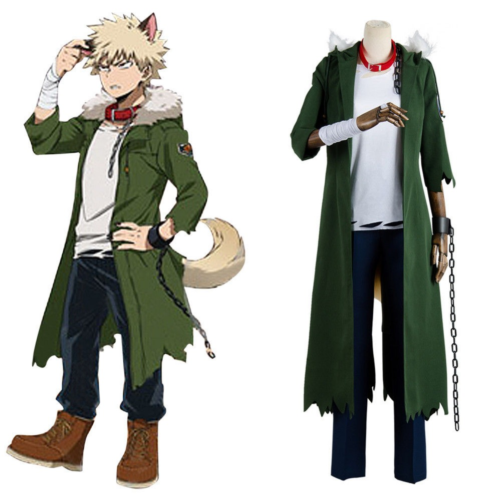 My Boku no Hero Academia Katsuki Bakugou Halloween Cosplay Costume Coat Outfit full set