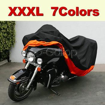 XXXL pokrywa motocyklowa dla Harley Road King Electra Glide Street GlideTourings Honda Goldwing Yamaha ROYAL STAR Venture tanie i dobre opinie GOCCNAN CN (pochodzenie) 30cm lightweight 180T polyester taffeta reflective PU surface coating XXXL-295*110*140 cm
