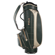 020481 POLO Golf Standard Bag Cover Golf Cart Bag Men Waterproof PU Standard Bag Super Anti-Friction Capacity11-13 Clubs Package