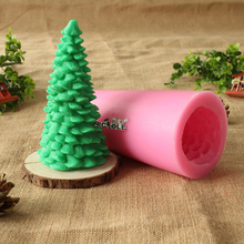 3D Pine Christmas Tree Silicone candle Mold Handmade Soap Craft Resin Decoration Tool Mould