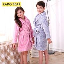 Детский фланелевый Халат зимний Детская Пижама для девочки теплая одежда для сна для маленьких мальчиков банные халаты детские коралловые флисовые пижамы полотенце Pijamas