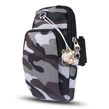 Originality Camouflage Sports Armband Phone bag For iPhone Samsung Xiaomi Universal Headphone Hole Gym Running Phone bag(China)