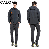 CALOFE Lovers Sport Suit Hiking Jacket Quick Dry Outdoor Hooded Jackets Pants Men Tracksuits Sun Protective
