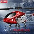 Original Syma S107E 3.5CH RC Helicopter RTF Com Giroscópio de Alta Qualidade Coloridas Luzes Piscando Drones Helicóptero Mini Presente Para As Crianças