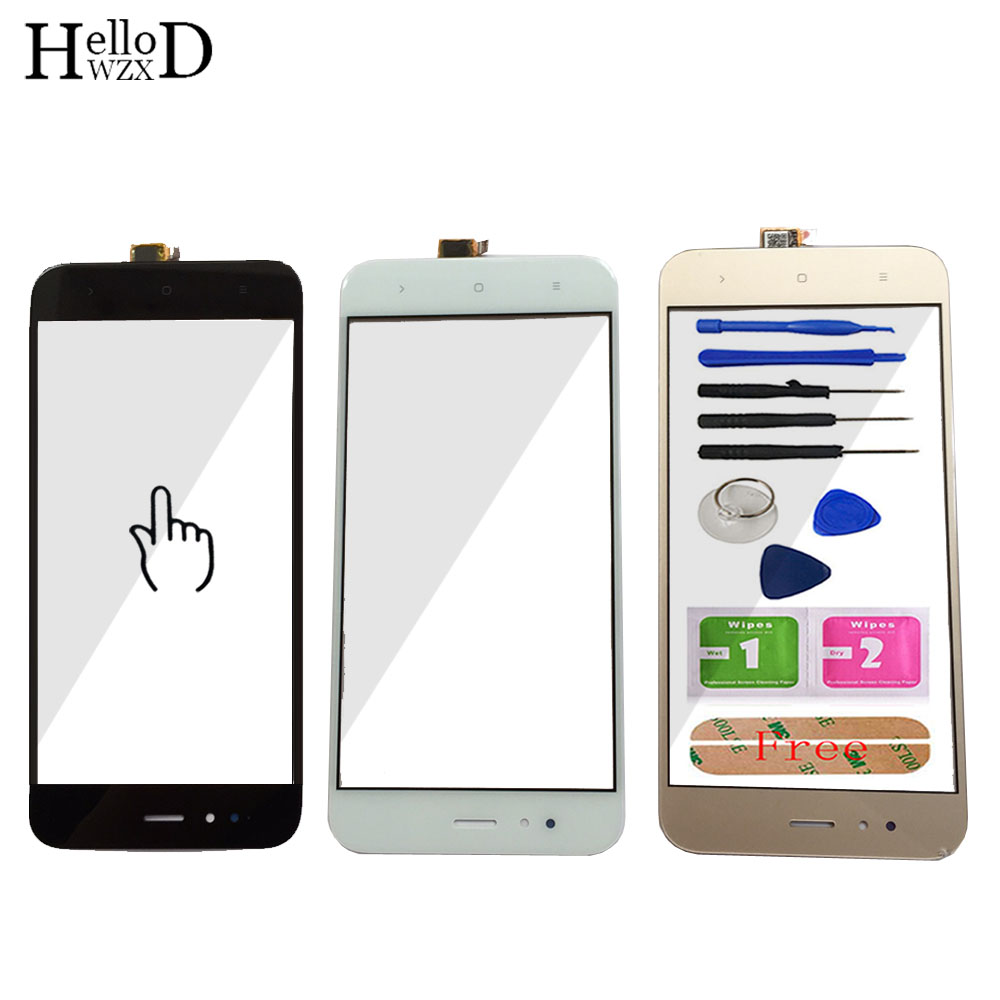 5.5'' Mobile Phone Touch Glass For Xiaomi 5X Mi5x Mi 5X Touch Screen Glass For Xiaomi MiA1 Mi A1 Digitizer Panel Front Glass