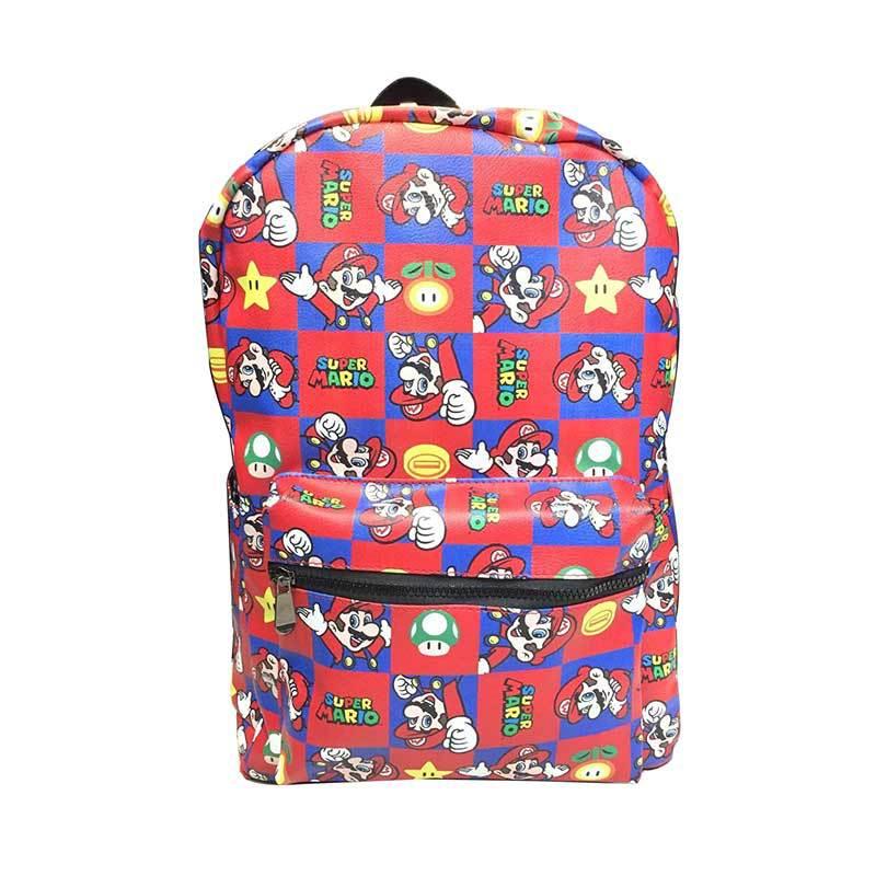 9e480498ebe6 IVYYE Super Mario bros мода аниме рюкзаки из искусственной кожи из мягкой кожи  школьный рюкзак повседневное
