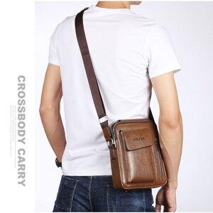 Image 4 - ขายร้อนMen S Messengerกระเป๋าVintage Puหนังชายกระเป๋าสะพายชายCrossbodyกระเป๋าถือคุณภาพสูง