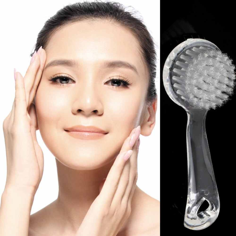 Exfoliating Facial Sikat Kulit Perawatan Lembut Bulu Sikat Scrub dengan Pegangan Plastik Kecantikan Pembersihan Alat untuk Wanita