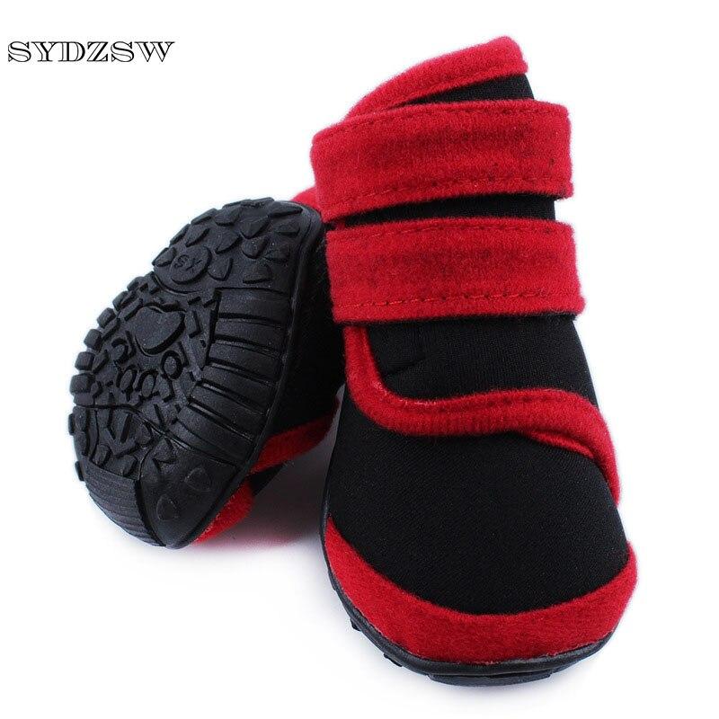 SYDZSW Hot Large Dog Shoes Waterproof Bulldog Boots Neoprene Warm Big Dog Winter Boots for Gold Retriever Husky Dog Supplies