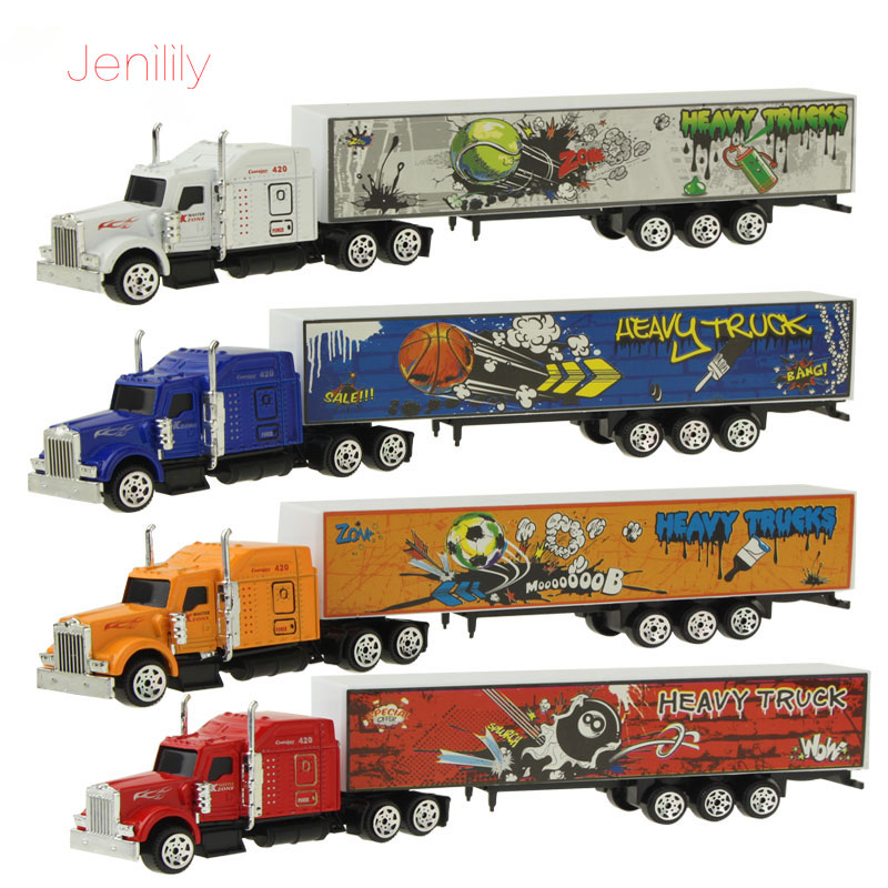 1 Pc 1:87 Alloy Disassembled Sliding Car Model Container Truck Mini Diecast Model Educational Toy Birthday Gift For Kids Boys