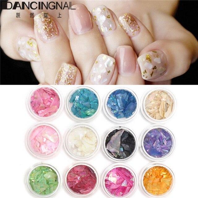 12 Colors/set 3d Nail Art Glitter Decoration Tools Mix Color Nail ...