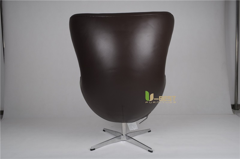 arne egg style egg chair in black leather (5)
