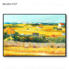 Skilled Artist Hand-painted High Quality Impressionist Field Harvest Scene Oil Painting Reproduce Van Gogh