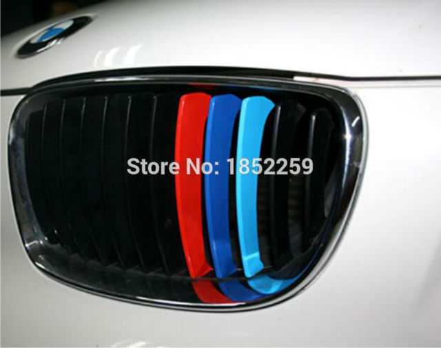 6 X New Style M Colorful Decoration Stickers Grill And
