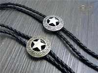 Vaquero occidental estrella corbata de Bolo Rodeo baile corbata Bola corbata