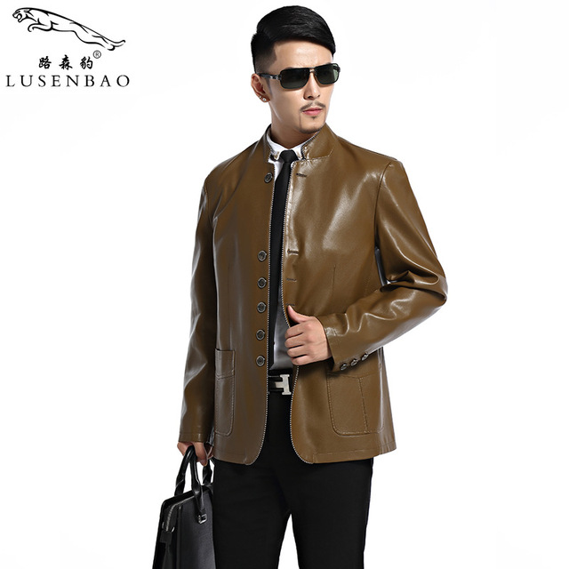 Men's Leather Jackets Spring Slim Fit Faux Leather Jacket Solid Casual Outwear Coats Stand Collar Men Bomber Jacket Men Leather