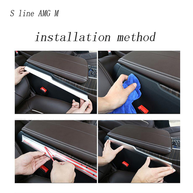 Car styling Gear Shift panel decorative strip auto covers Stickers trim For BMW 5 Series G30 G38 2018 interior auto Accessories