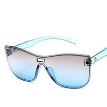 Oversize Square Sunglasses Women Fashion Flat Top Gradient Glasses Men Double Colors Frame Gradient Shades стоимость