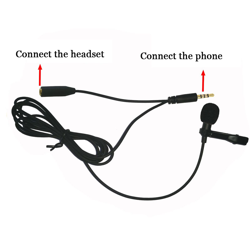 popular microphone mini jack buy cheap microphone mini jack lots portable clip on lapel lavalier microphone jack mini wired condenser microphone earphone connector for