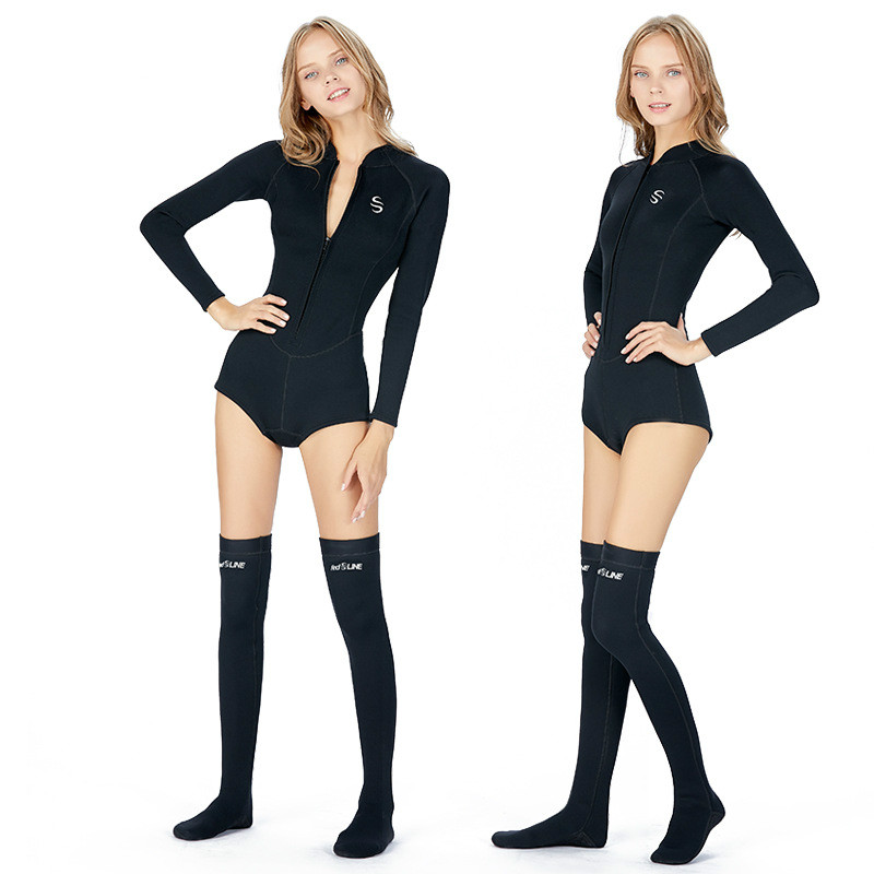 Aliexpresscom  Buy Slinx Womens 2Mm Spring Wetsuit With Long Socks Bikini Cut Springsuit Long -1940