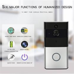 DANMINI видеодомофон Wi-Fi видео дверной телефон дверной звонок Беспроводная камера Wi-Fi для дверного звонка для квартиры ИК-сигнализация