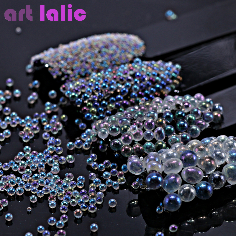Clear AB Nail Caviar Glitter Beads Mini Micro Rhinestones DIY Beauty Manicures Accessories For Gel Lacquer Nail Art Decorations