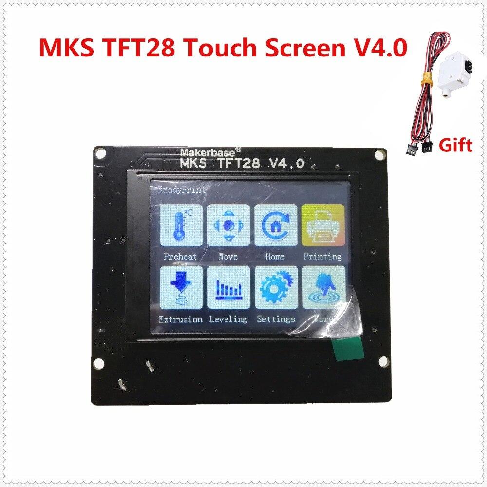 3d elementos de impresión MKS TFT28 V4.0 pantalla táctil RepRap controlador colorido display SainSmart splash pantalla lcd Monitor
