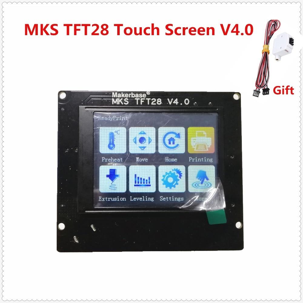 3D drukas elementi MKS TFT28 V4.0 skārienekrāns RepRap kontrolieris panelis krāsains displejs SainSmart splash screen lcd monitors