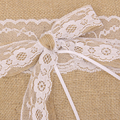 Lace Bowknot Burlap Hessian Ring Bearer Pillow Cushion Rustic Wedding Party
