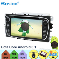 Octa Cores 2 din For ford focus 2/mondeo/s max/c max/galaxy with free camera,canbus,map,bluetooth,SWC,Wifi,support converse