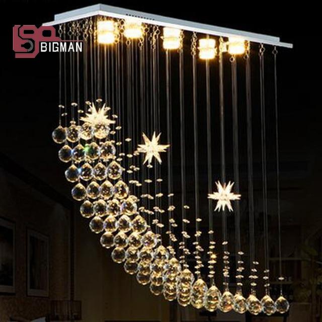 Moderne Rechteckige Kristall Kronleuchter Für Esszimmer Schlafzimmer  Leuchten