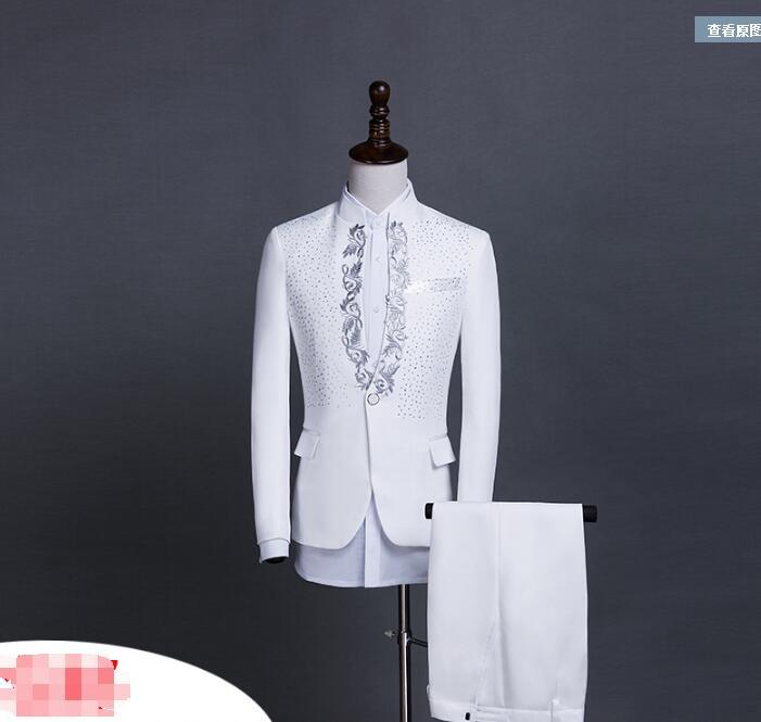 black Hôte C1 Hommes C1 Formelle Stade B2 Costumes white B2 Black Sequin Chanteur white Robe Vêtements nqPH7wBa