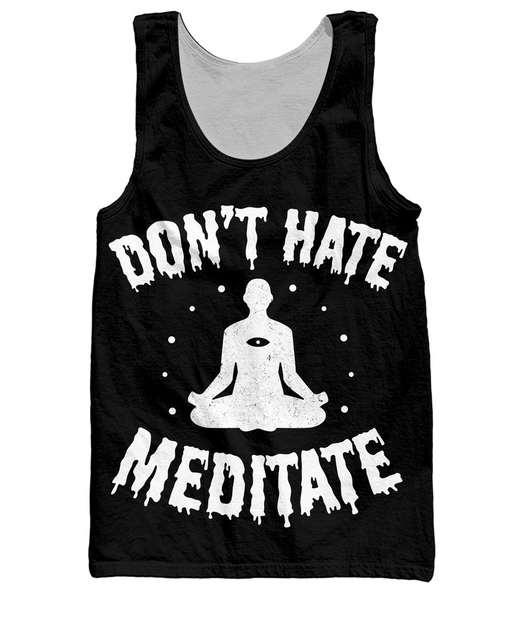 RuiYi no Odias Meditar Tank Top Mujeres Hombres 3d Imprimir Chaleco Casual Camiseta Ropa de Moda Ropa de Moda Más Tamaño