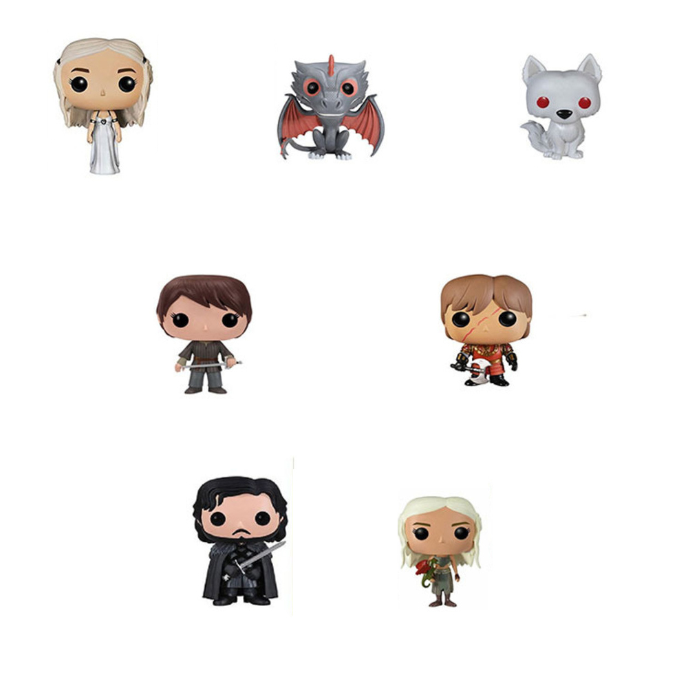 Funko POP Game Of Thrones Periphery Jon Snow Daenerys Targaryen Black Dragon Doll Handmade Toys Ice And Fire Jewelry Accessories