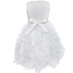 Image 4 - High Quality New Flower Girl Party Bridesmaid Pageant Princess Dress For Little Girls Gift Organza First Communion Dresses