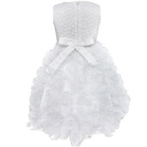 Image 4 - Yüksek Kaliteli Yeni Çiçek Kız Parti Nedime Pageant Prenses Elbise Küçük Kızlar Için Hediye Organze Ilk Cemaat Elbiseler