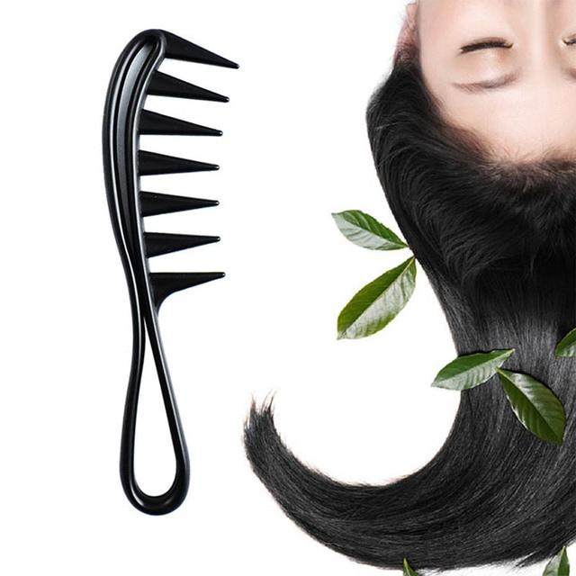 Offre spéciale unisexe poignée large dent peigne bouclés Salon de coiffure peigne pour les outils de coiffure livraison gratuite