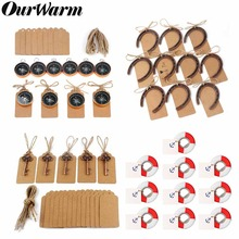 OurWarm 10Pcs Wedding Souvenirs Key Bottle Opener+Tags Compass Anniversary Gifts for Guests Valentines Day Present
