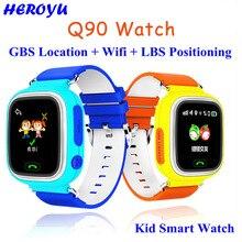Q90 Smartwatch Touchscreen WIFI Kinder SOS Anruf Location Finder Gerät GPS Tracker für Kid Safe Anti Verloren Smart Uhr