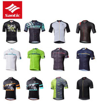 2019 Santic 8 Style Men Short Sleeve Cycling Jersey Summer Breathable MTB Road Bike Top Quick Dry Pro Outdoor Sport Riding Shirt santic professional men cycling padded shorts with italian 8 hours riding pad mtb road bike short pants outdoor sport clothing