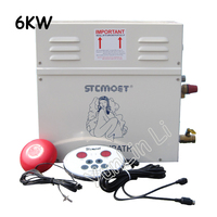 6KW Steam Generator Household Steaming Sauna Room 220V Steam Bath Machine For Relax Spa Room Digital Controller ST 60