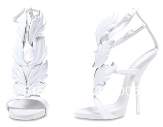Aliexpress.com : Buy Large size 11 abnormal heel sandals gold leaf ...