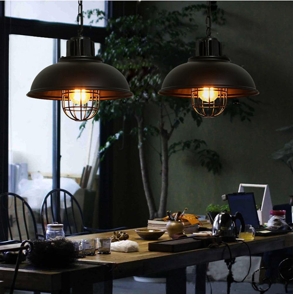 Salle A Manger Retro €77.71 15% de réduction|2017 rétro pendentif led lumières industriel  suspension lampe pour salle à manger cuisine vintage suspension lampe  luminaires