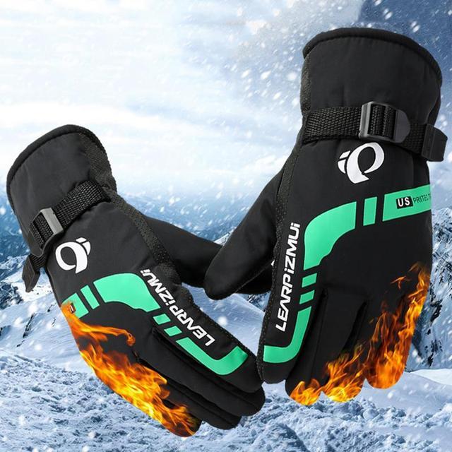 Теплые лыжные перчатки для мужчин зимние уличные спортивные мотоциклетные перчатки для езды на мотоцикле